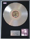 GUNS N' ROSES - LP Platinum Disc - CHINESE DEMOCRACY